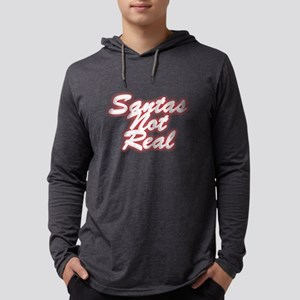 Santas Not Real Mens Hooded Shirt