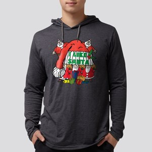I Like Santa Mens Hooded Shirt