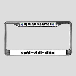 Veni-Vidi-Vino Wine License Plate Frame