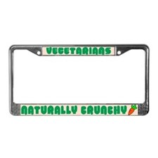 Naturally Crunchy Vegetarian License Plate Frame