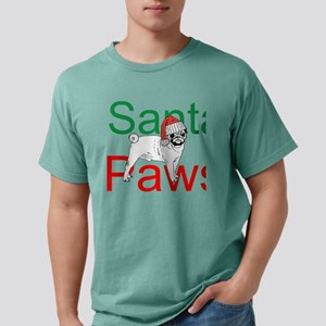Santa Paws Mens Comfort Colors Shirt