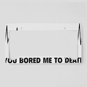 boredToDeath3D License Plate Holder