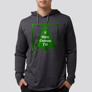 Merry Christmas Yall Mens Hooded Shirt