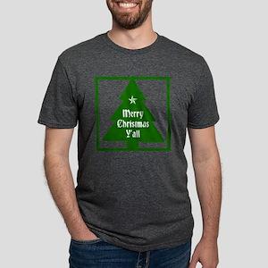 Merry Christmas Yall Mens Tri-blend T-Shirt