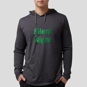 Silent Night Mens Hooded Shirt