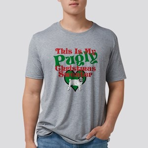 This Is My Pugly Christmas Sweater Mens Tri-blend