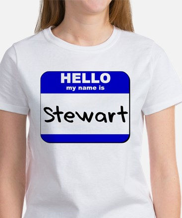 hello my name is stewart Women's T-Shirt