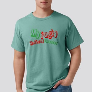 My Fugly Holiday Sweater Mens Comfort Colors Shirt