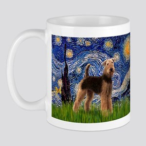 Starry Night - Airedale #6 Mug