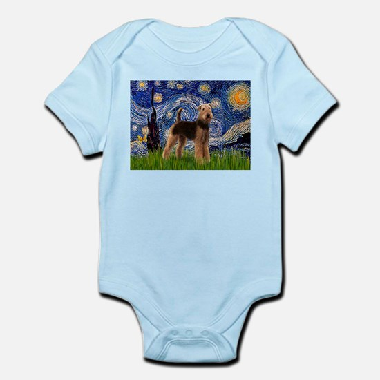 Starry Night - Airedale #6 Infant Bodysuit