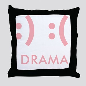 Drama-con Throw Pillow