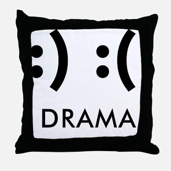 Drama-con Throw Pillow