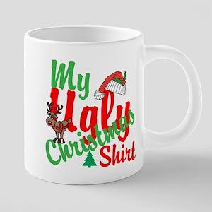 Ugly Christmas Shirt 20 oz Ceramic Mega Mug