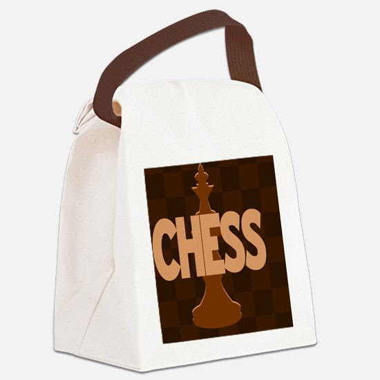 Chess King Canvas Lunch Bag