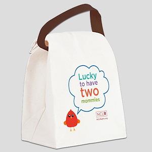 Bird mom longsleeve onesie Canvas Lunch Bag