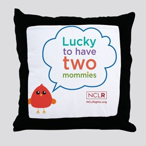 Bird mom longsleeve onesie Throw Pillow