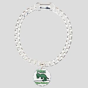 T-Rex hates Pushups 02 Charm Bracelet, One Charm