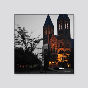 """Cathedral Akron Square Sticker 3"""" x 3"""""""