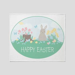Bunny  Friends Throw Blanket