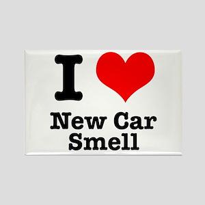 I Heart (Love) New Car Smell Rectangle Magnet
