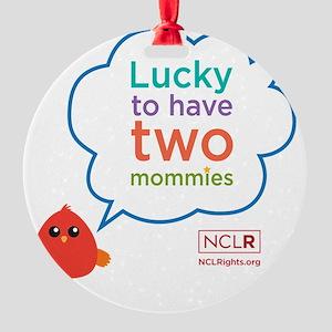 Bird moms blanket Round Ornament