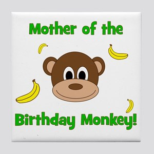 Mother of the Birthday Monkey! Tile Coaster