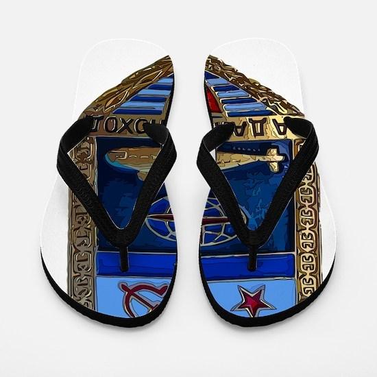 Soviet Navy Sub badge Flip Flops