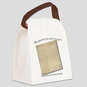 Gun Permit Canvas Lunch Bag