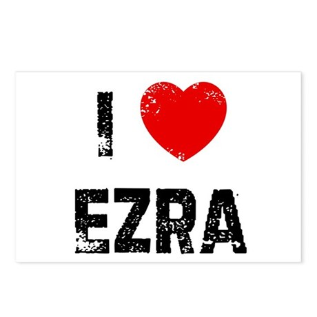 I * Ezra Postcards (Package of 8)