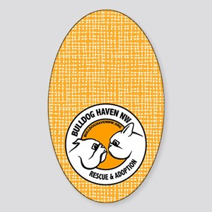 BHNW LOGO w/orange - Sticker (Oval)