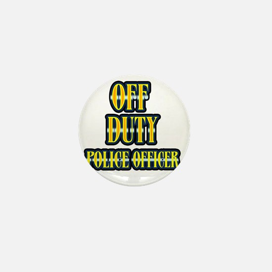 Off Duty Police Officer 3 Mini Button