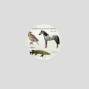 North Dakota State Animals Mini Button