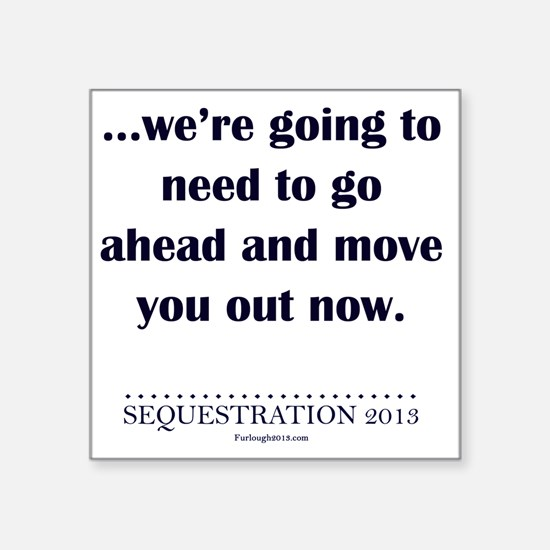 "Moving Out Square Sticker 3"" x 3"""