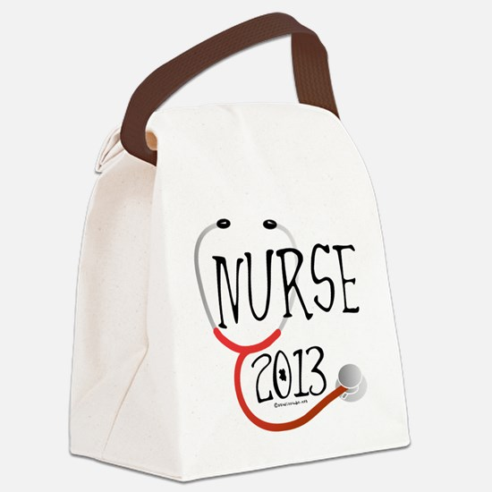 Nurse 2013 Announcement Canvas Lunch Bag
