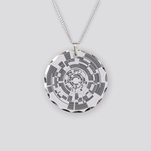 Bits and Bytes Necklace Circle Charm