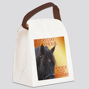 Horses feed my soul Canvas Lunch Bag