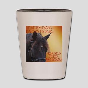 Horses feed my soul Shot Glass
