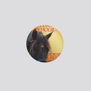 Horses feed my soul Mini Button
