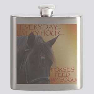 Horses feed my soul Flask