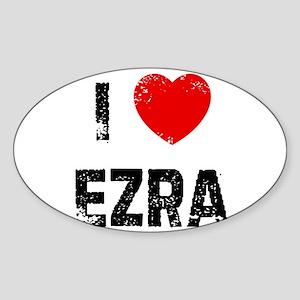 I * Ezra Oval Sticker