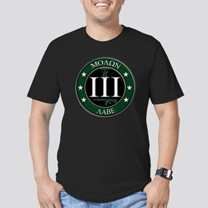 Molon Labe Men's Fitted T-Shirt (dark)
