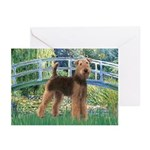 Bridge - Airedale #6 Greeting Cards (Pk of 10)