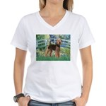 Bridge - Airedale #6 Women's V-Neck T-Shirt