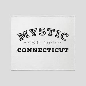 Mystic Connecticut Throw Blanket