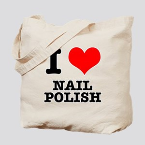 I Heart (Love) Nail Polish Tote Bag
