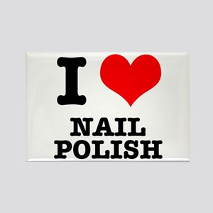 I Heart (Love) Nail Polish Rectangle Magnet