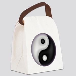 YinYang Purple Canvas Lunch Bag