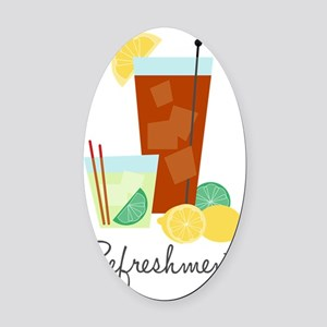Refreshments Oval Car Magnet