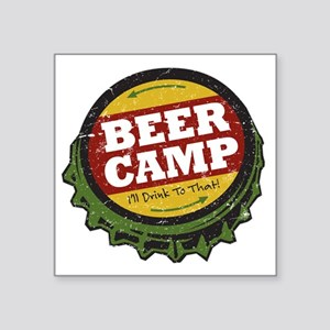 """Beer Camp Square Sticker 3"""" x 3"""""""