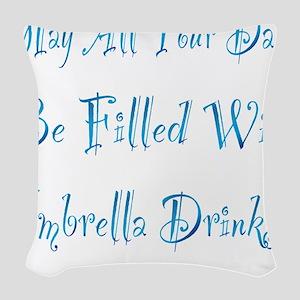 UMBRELLA DRINKS - OCEAN Woven Throw Pillow